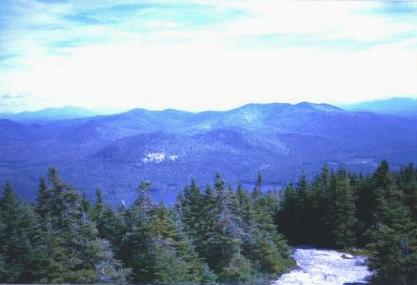 Adirondack Mountains view taken near Blue Mountain Lake during the 1995 Fall Hiking Weekend, September 16, 1995.