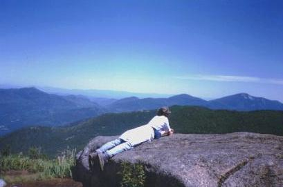Looking toward Vermont from the Summit of Cascade Mountain in the Adirondack High Peaks region, July 31, 1995.