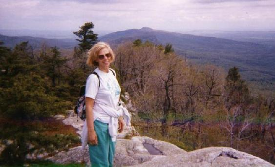 View from the Shawangunk Ridge near Mohonk Mountain in the early Spring of 1995.